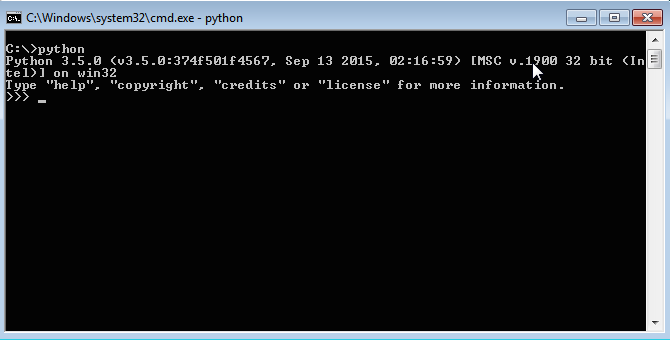 Command prompt with Python