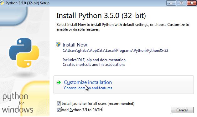 Add Python to PATH during installation